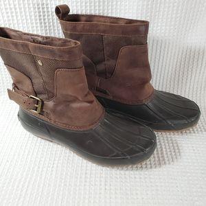 Lucky Brand Weenie Brown Duck Boots Size 6